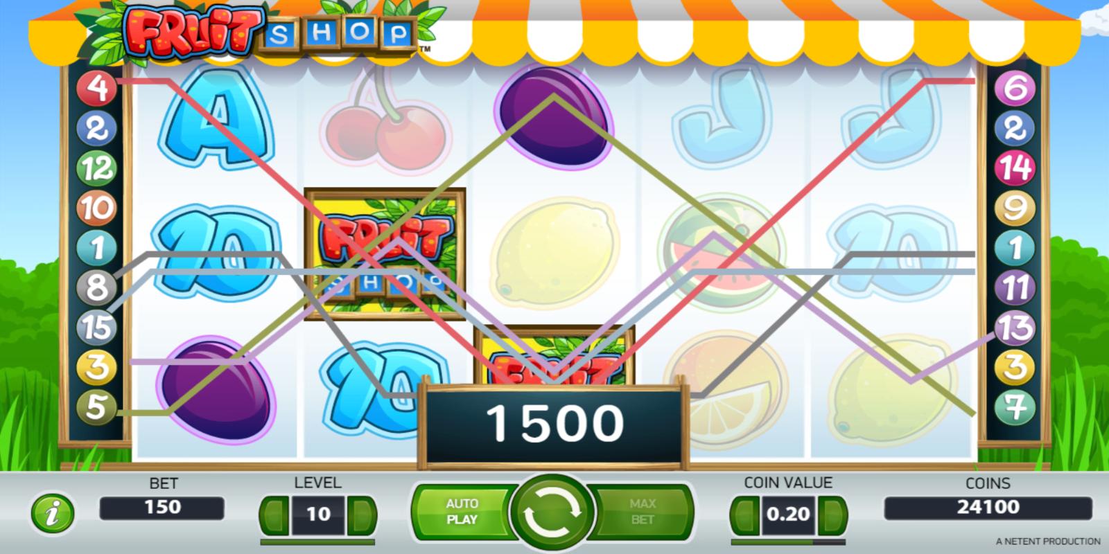 Fruit Shop Slot Gameplay