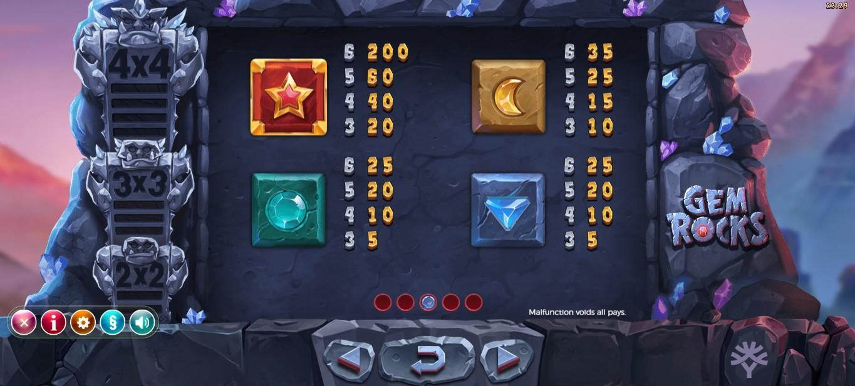 Gem Rocks Slot Gameplay