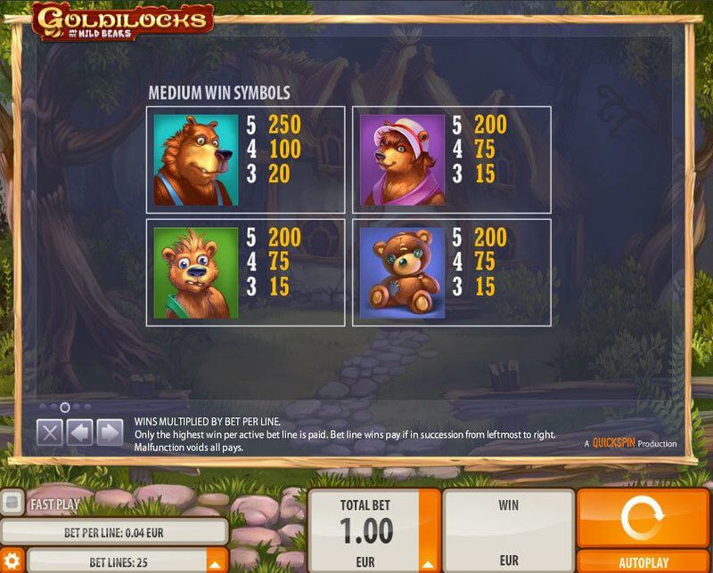 Goldilocks Slot Bonus