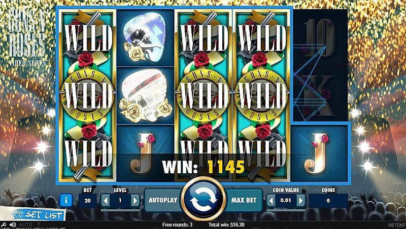 Guns N Roses Slot Gameplay