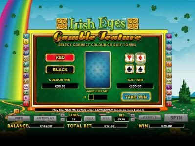 Irish Eyes Slot Bonus