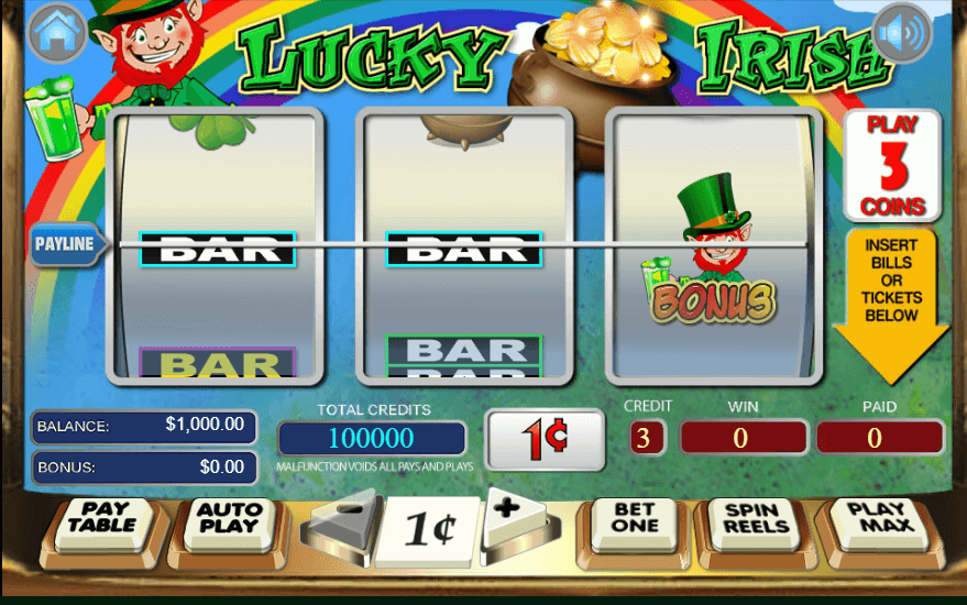 Lucky Irish Slot Bonus