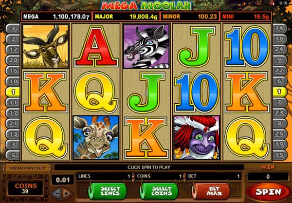 Mega Moolah Slot Gameplay