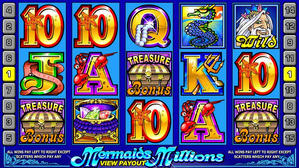 Mermaids Millions Slot Gameplay