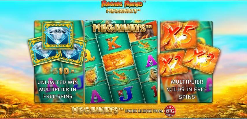 Raging Rhino Megaways Slot Bonus