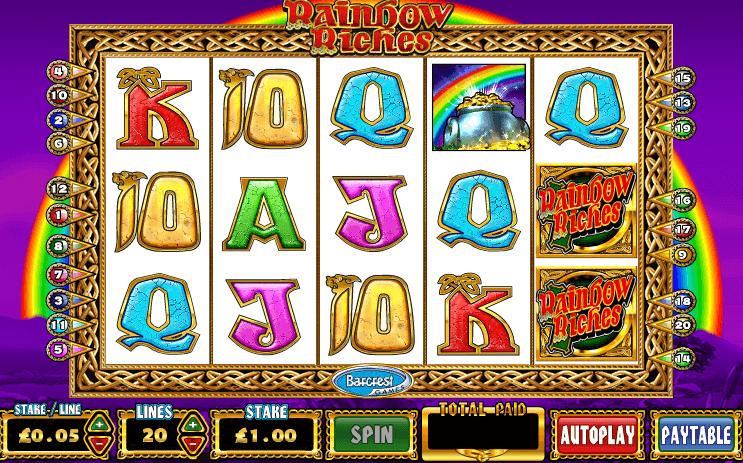 Rainbow Riches Slot Gameplay