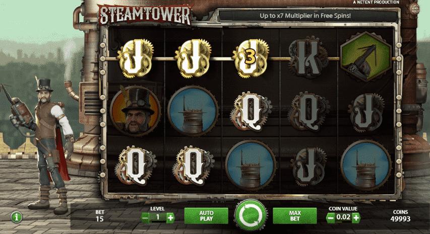 Steam Tower Slots Gameplay