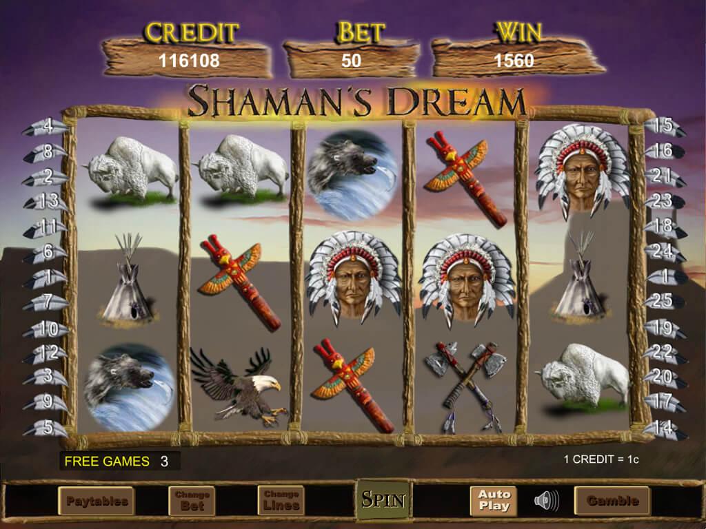 Shamans Dream Slot Bonus