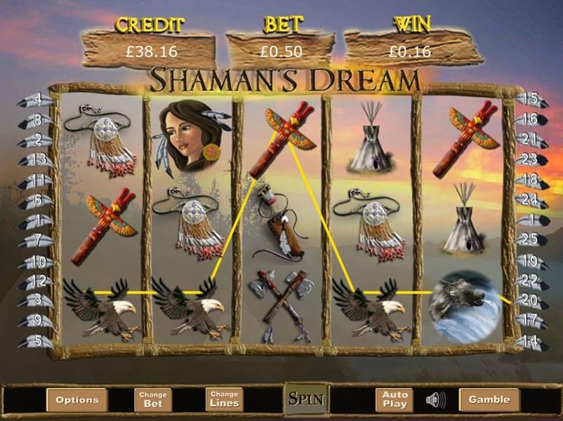 Shamans Dream Slot Gameplay