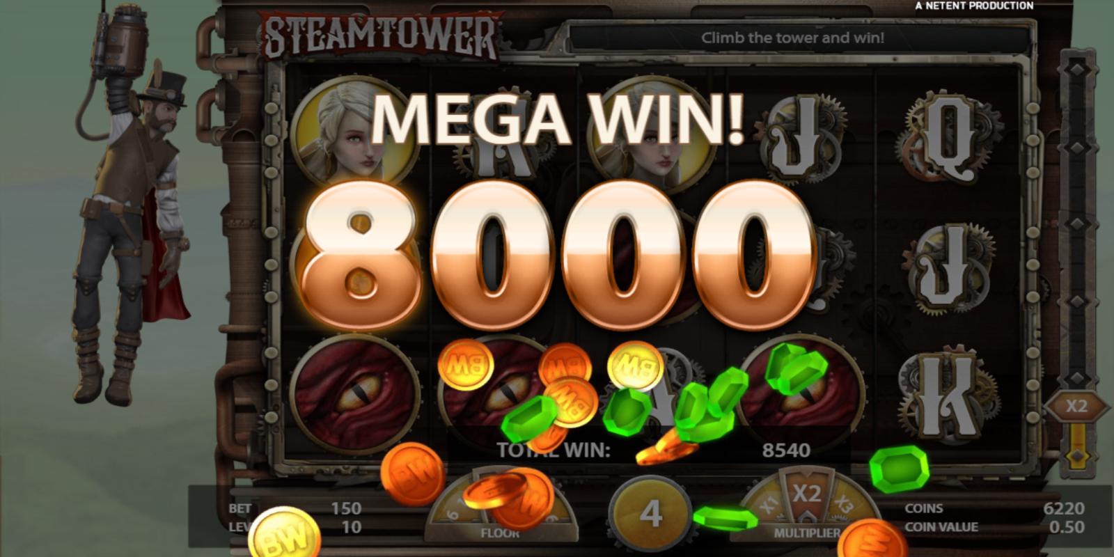 Steam Tower Slot Big Win