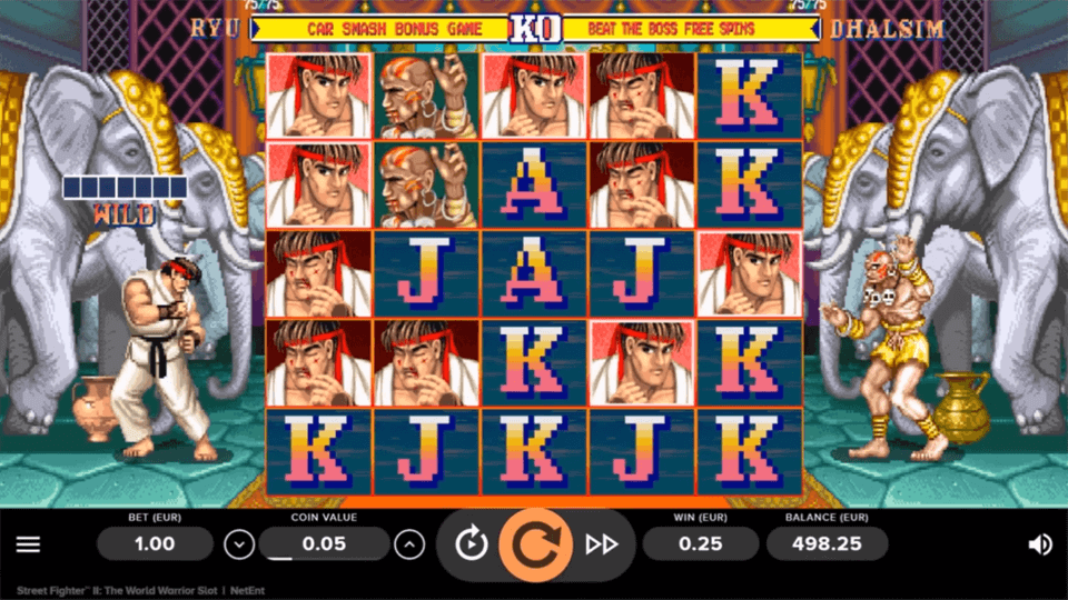Street Fighter 2 Slot Gameplay