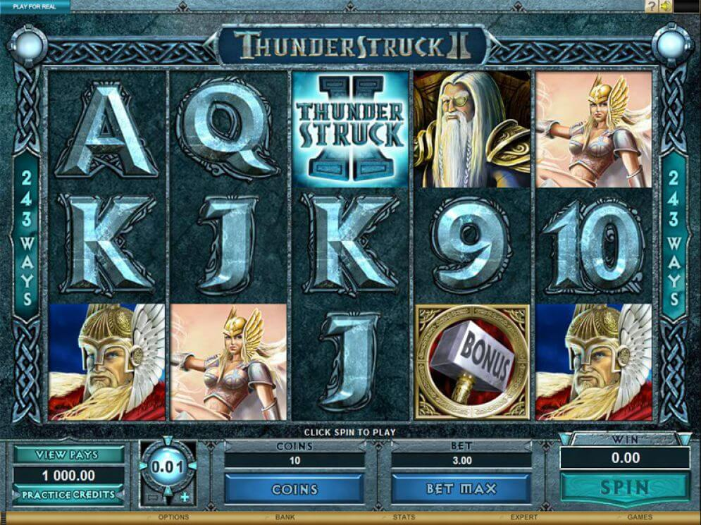 Thunderstruck 2 Slot Gameplay