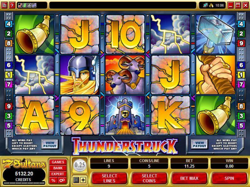 Thunderstruck Slot Gameplay