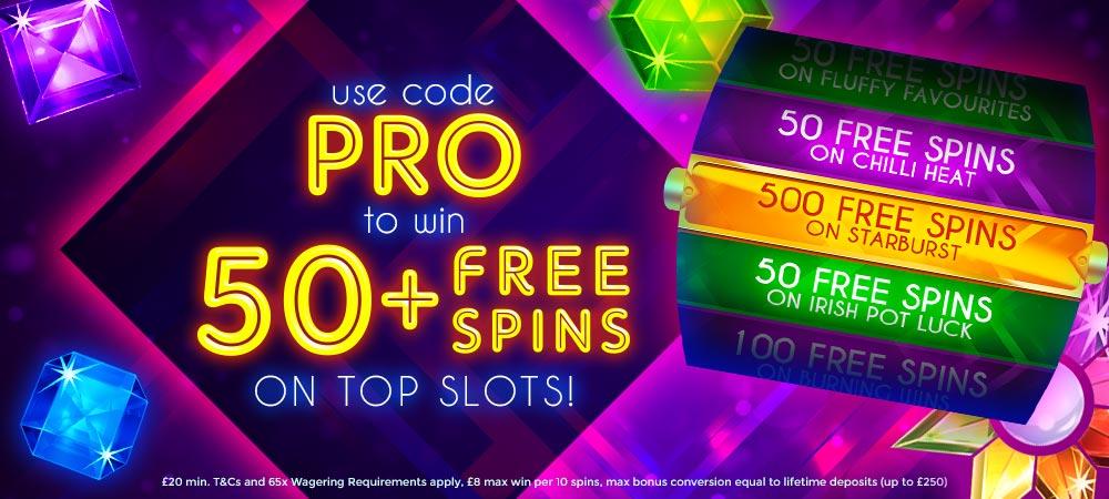 bonanzaslots - 50 free spins - promotion