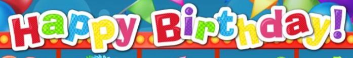 Happy Birthday Slot Logo Bonanza Slots