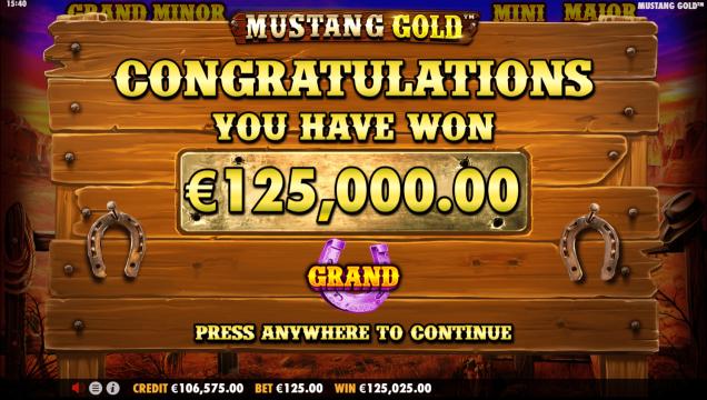Mustang Gold Slots Bonus Features
