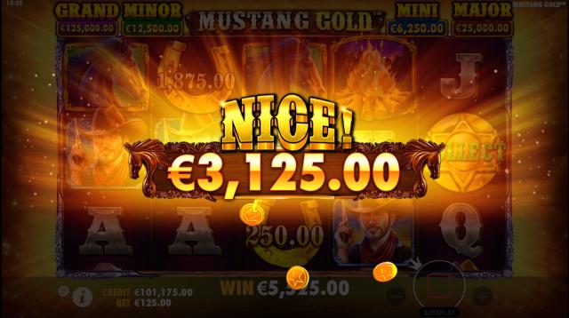 Mustang Gold Slot Big Win