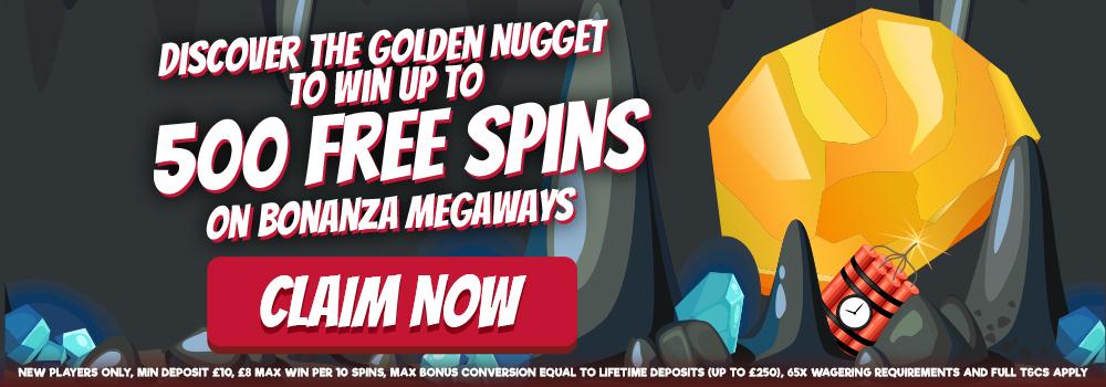 500-freeSpins-Bonaza slots