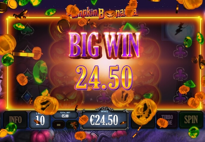 Pumpkin Bonanza Slot Win