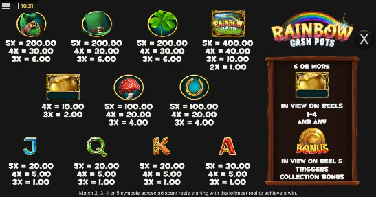 rainbow cash pots  lot6