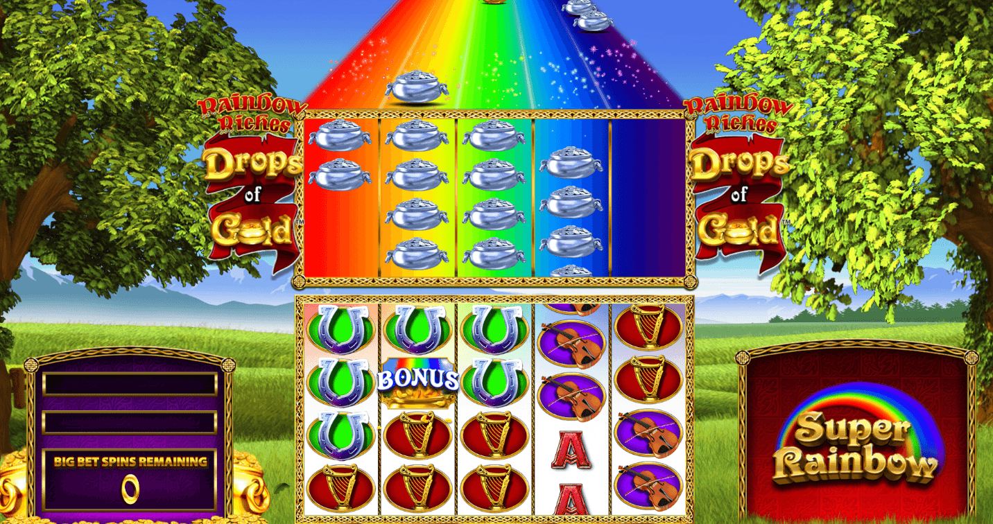 Rainbow Riches Drops of Gold Reels