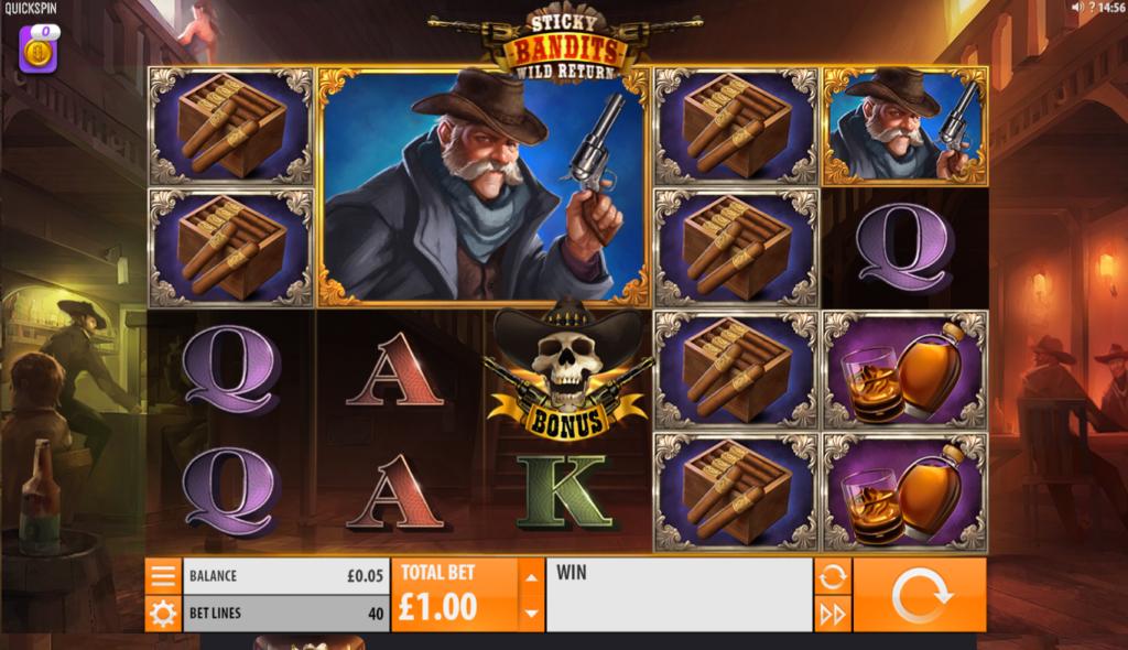 Sticky Bandits Slot Gameplay